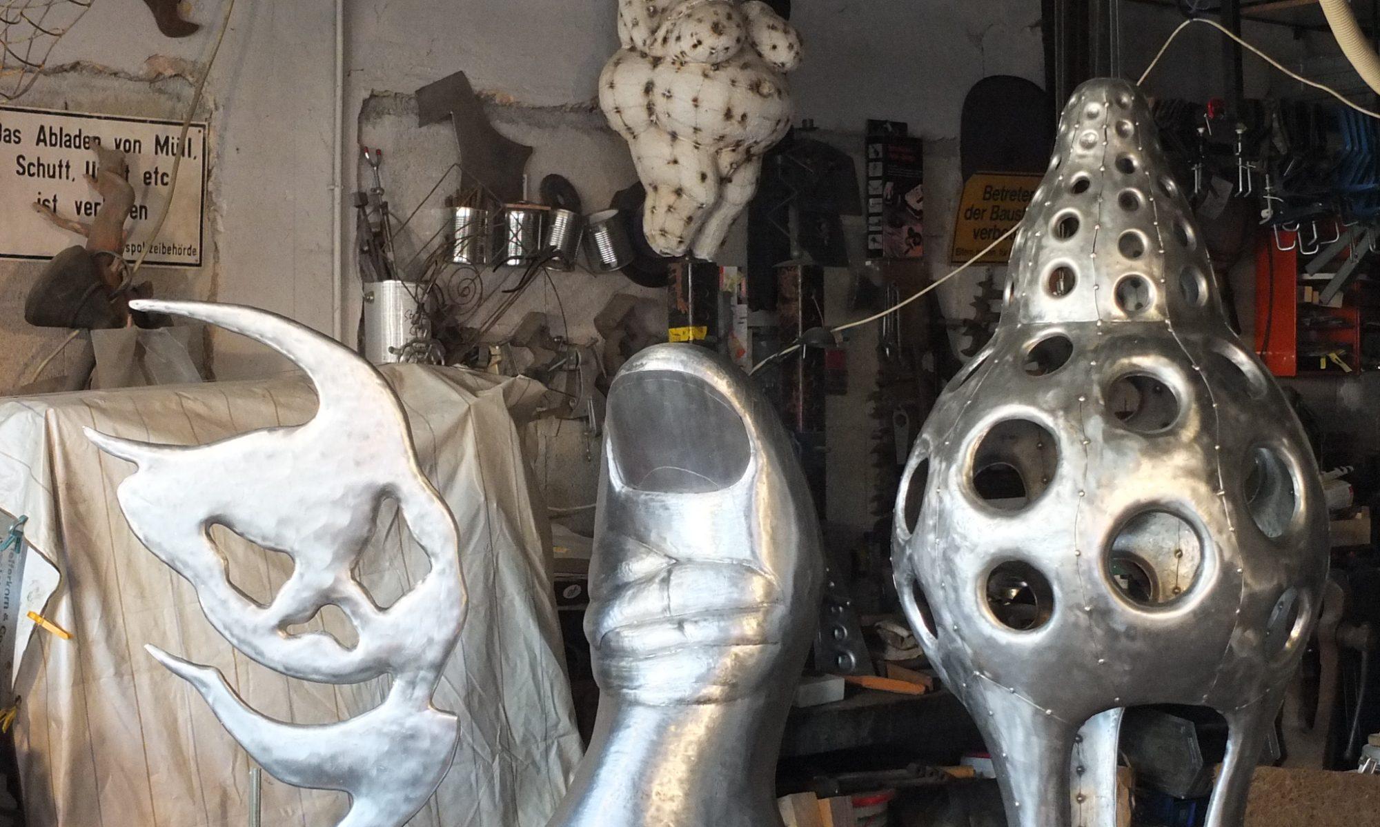 Elmar Hubert  Skulpturen - Plastiken